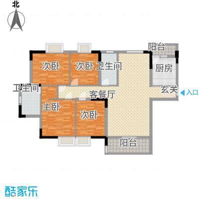 永江花园香溪148.00㎡永江花园香溪户型图1栋C户型4室2厅2卫1厨户型4室2厅2卫1厨