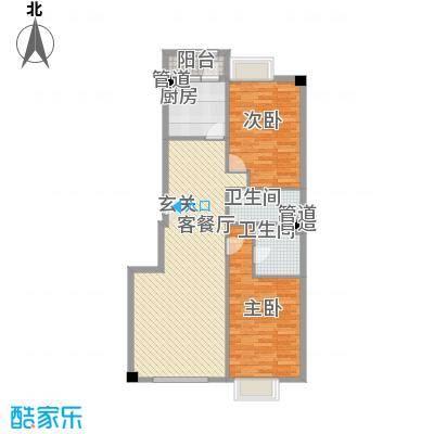 米兰D.C116.00㎡米兰D.C户型图户型12室2厅2卫1厨户型2室2厅2卫1厨
