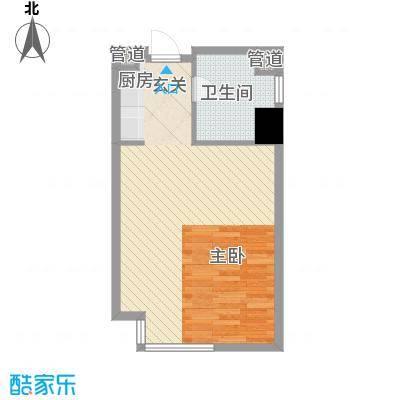 万达广场55.00㎡万达广场户型图2#楼B户型图1室1厅1卫1厨户型1室1厅1卫1厨