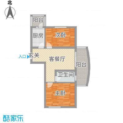 四季芳洲53.15㎡四季芳洲户型图2室1厅1卫1厨户型10室