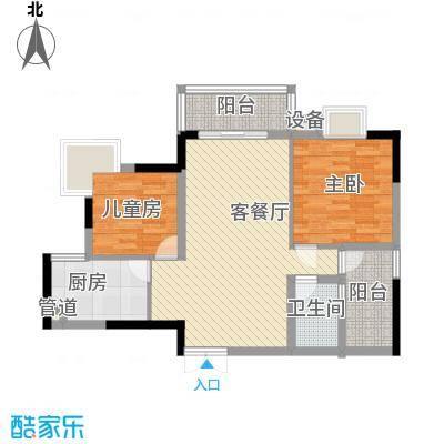 东城中心六期116.00㎡东城中心六期(御景台)2室户型2室