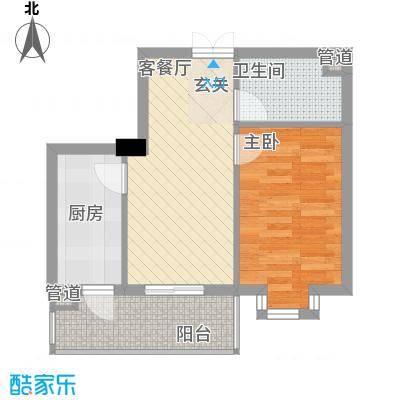 恒祥首府D栋二单元2门两室一厅一卫56.46平方米'户型2室1厅1卫1厨