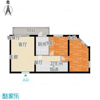 龙福家园95.16㎡龙福家园户型图2室2厅1卫1厨户型10室