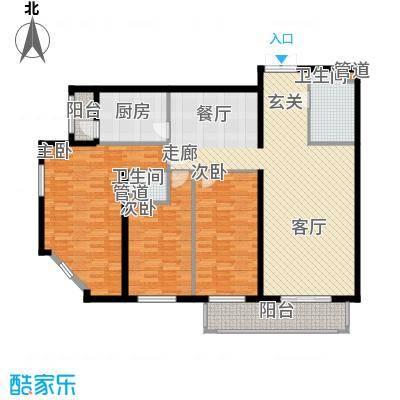 龙福家园136.27㎡龙福家园户型图3室2厅2卫1厨户型10室