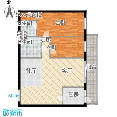 龙福家园105.87㎡龙福家园户型图2室1厅2卫1厨户型10室