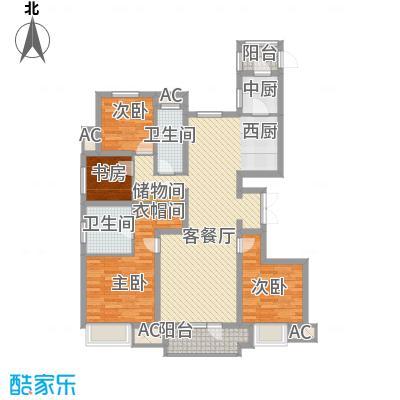 华润海中国135.00㎡华润海中国户型图4号楼F户型4室2厅4卫1厨户型4室2厅4卫1厨
