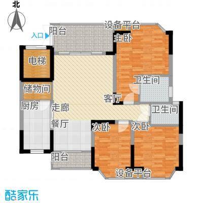 世纪绿洲二期124.00㎡世纪绿洲二期户型图温馨蓝湾椰景轩标准层B户型3室2厅户型3室2厅