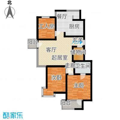 长青城97.00㎡长青城3室户型3室