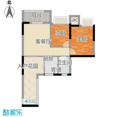 星星华园国际户型图12座01单元3-29层奇数层 2室2厅1卫