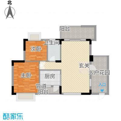 石竹山水园89.00㎡石竹山水园2室2厅户型2室2厅