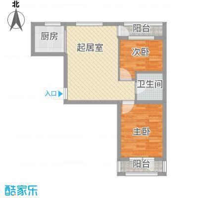 鑫展水岸85.42㎡鑫展水岸户型图7号楼和11号楼5户型2室1厅户型2室1厅