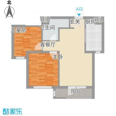 万科樱花园79.00㎡万科樱花园户型图1#、2#楼79平光空间两室一厅户型图2室1厅1卫1厨户型2室1厅1卫1厨