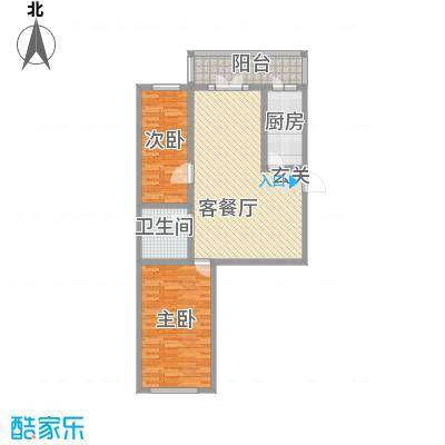 南棵绿荫小区76.39㎡南棵绿荫小区户型图2室1厅1卫1厨户型10室