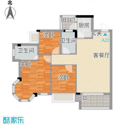 风度广场93.75㎡风度广场户型图7栋04户型3室2厅2卫1厨户型3室2厅2卫1厨