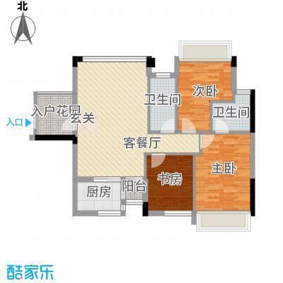 风度广场92.55㎡风度广场户型图7栋02户型3室2厅2卫1厨户型3室2厅2卫1厨