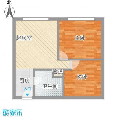 丽骏豪庭58.00㎡丽骏豪庭1室户型1室