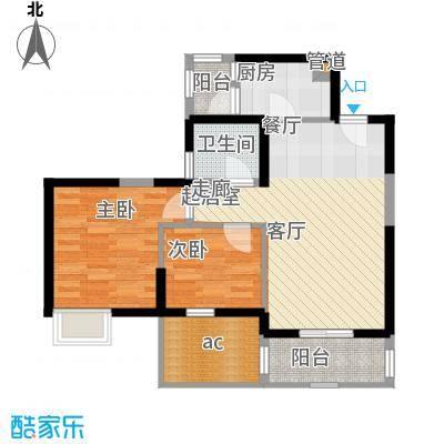 中惠沁林山庄78.00㎡中惠沁林山庄2室户型2室
