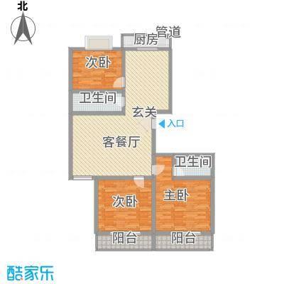中铁绿洲139.20㎡中铁绿洲户型图户型(二)3室2厅2卫1厨户型3室2厅2卫1厨