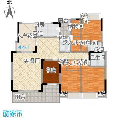 中海万锦豪园221.00㎡中海万锦豪园户型图D1型01.182m24室2厅3卫1厨户型4室2厅3卫1厨
