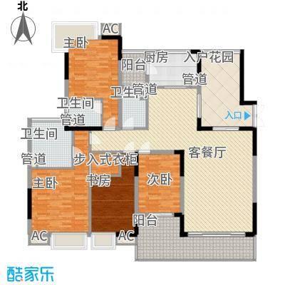 中海万锦豪园192.00㎡中海万锦豪园户型图D3型02.158m24室2厅3卫1厨户型4室2厅3卫1厨