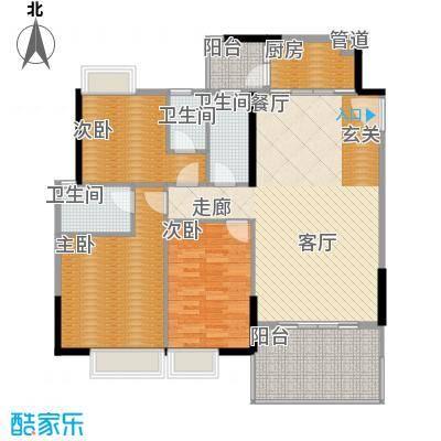 玫瑰园88.00㎡玫瑰园2室户型2室