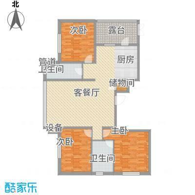中北春城二期户型图三期四区户型  3室1厅2卫1厨