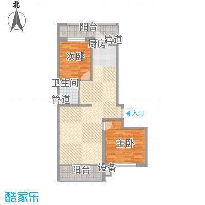 中北春城二期户型图户型3 2室1厅1卫1厨