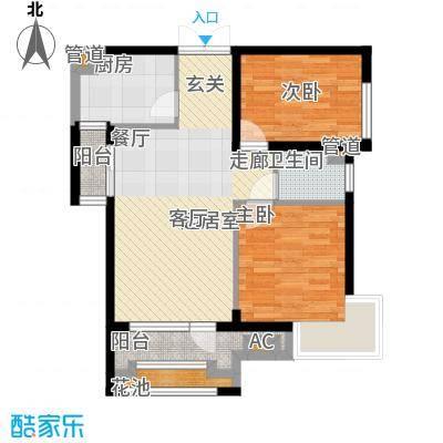 波菲蓝岛项目户型图1、5#89户型 2室2厅1卫1厨