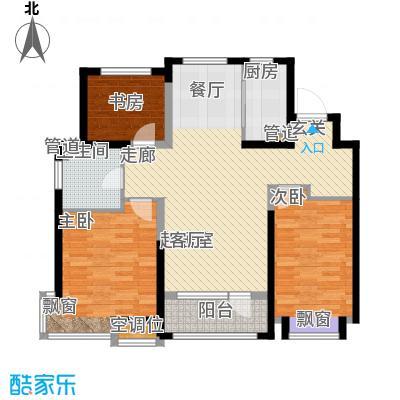 未名山II期户型图b3、b4、b5、b6号楼B户型 3室2厅1卫1厨