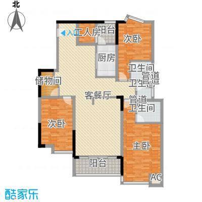 湖景壹号庄园别墅户型图e户型 3室2厅3卫