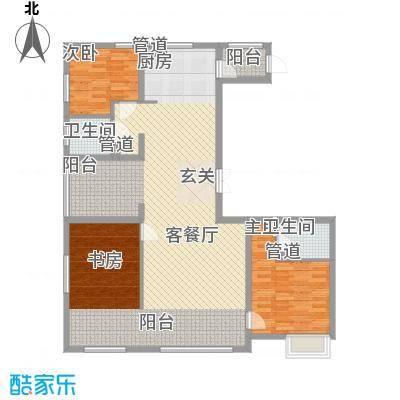 盟科视界94.61㎡E户型3室1厅1卫1厨