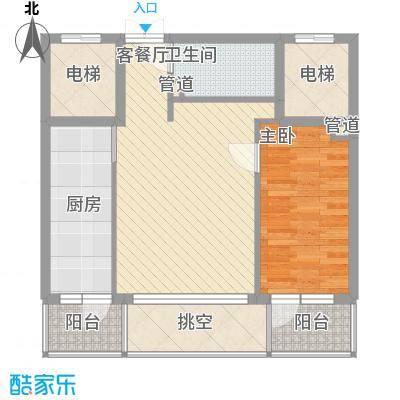 亿锋现代城63.37㎡亿锋现代城户型图亿峰现代城1室户型图1室1厅1卫1厨户型1室1厅1卫1厨