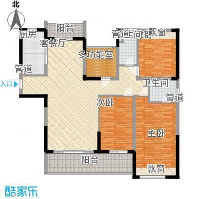 花样年江山152.00㎡花样年江山户型图江山府2、4、8栋标准层F户型3室3厅3卫2厨户型3室3厅3卫2厨