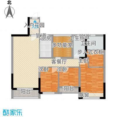 花样年江山113.00㎡花样年江山户型图江山府2、4、8栋标准层E户型3室2厅2卫1厨户型3室2厅2卫1厨