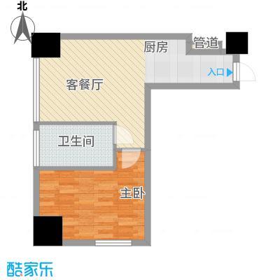 亿锋现代城64.76㎡亿锋现代城一室户型10室