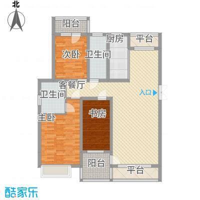 亿锋现代城135.83㎡亿锋现代城户型图亿峰现代城3室户型图3室2厅2卫1厨户型3室2厅2卫1厨