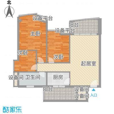 盛和花园104.71㎡盛和花园户型图3室2厅1卫1厨户型10室