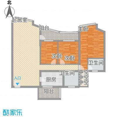 盛和花园138.25㎡盛和花园户型图3室2厅2卫1厨户型10室