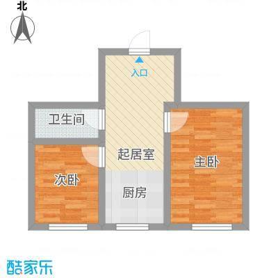 江尚逸品38.69㎡多层D户型(售罄)户型2室1厅1卫1厨
