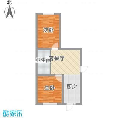 江尚逸品48.51㎡多层C户型(售罄)户型2室1厅1卫1厨