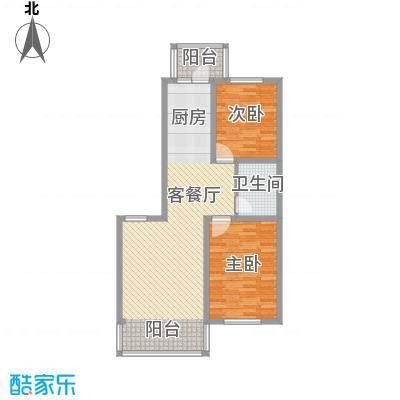 江尚逸品68.17㎡多层A户型(售罄)户型2室2厅1卫1厨