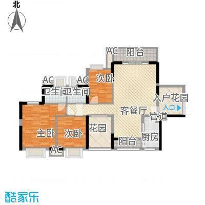 隆福花园二期129.00㎡隆福花园二期3室户型3室