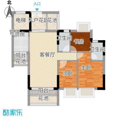东海国际花园91.00㎡东海国际花园户型图3区9座043室2厅2卫1厨户型3室2厅2卫1厨