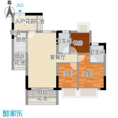东海国际花园89.44㎡东海国际花园户型图4区5座2-3单元3室2厅2卫户型3室2厅2卫