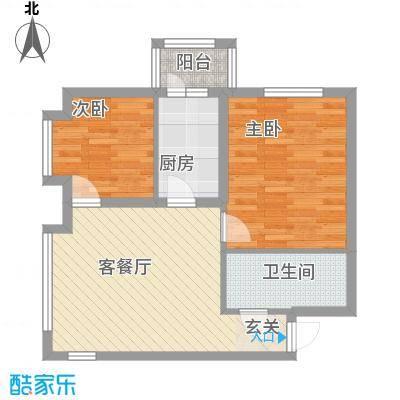市政小区户型2室1厅1卫1厨
