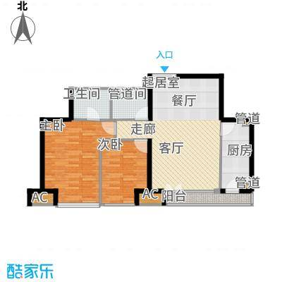 中堂东港城94.00㎡中堂东港城2室户型2室