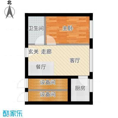 丽水丁香园39.98㎡5号户型1室1厅1卫1厨