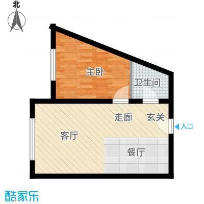 丽水丁香园44.52㎡8号户型1室1厅1卫1厨