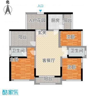 佳兆业水岸豪门130.00㎡佳兆业水岸豪门户型图7-9栋2-30层04和05单位白金户型3室2厅2卫1厨户型3室2厅2卫1厨