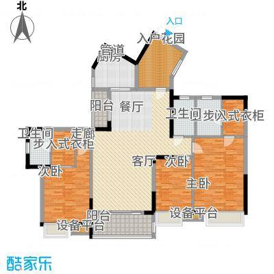 海琴水岸148.00㎡海琴水岸户型图21栋2-17层032室2厅3卫1厨户型2室2厅3卫1厨